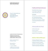Flyer der Praxis für Naturheilweisen und Diagnostik