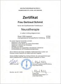 Zertifikat Neuraltherapie